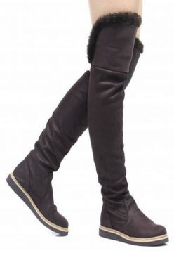 Bota Over The Knee Rasteira Conceito Fashion by Sylt Suede