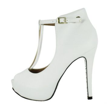 Peep Toe Week shoes Open Boot Floter Branco Week shoes