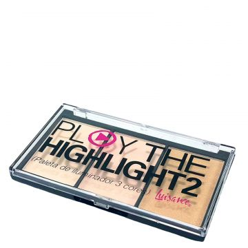 Paleta Iluminador 3 Cores A Luisance Play The Highlight2 Lu