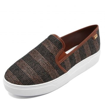 Slip On Dumond Texturizado Marrom Dumond