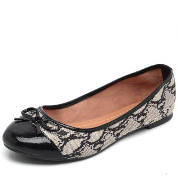Sapatilha DAFITI SHOES Animal Print Bege DAFITI SHOES