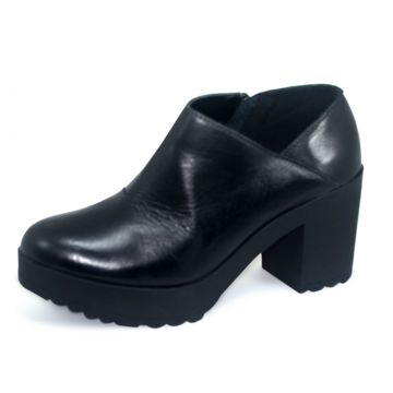Ankle Boot s2 Shoes Couro Preto S2 Shoes
