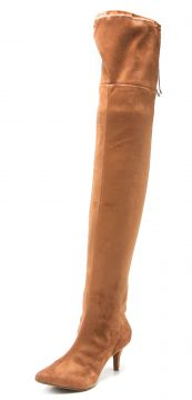 Bota Over The Knee DAFITI SHOES Bico Fino Caramelo DAFITI S