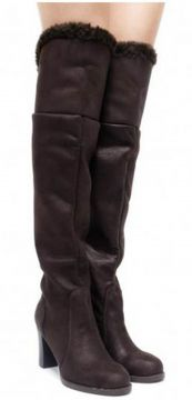 Bota Over The Knee Salto Conceito Fashion by Sylt Suede Caf