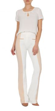Calça Flare MX Fashion Bicolor Robert Off White MX Fashion