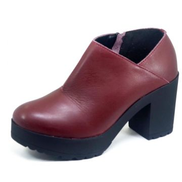 Ankle Boot S2 Shoes Couro Vinho S2 Shoes