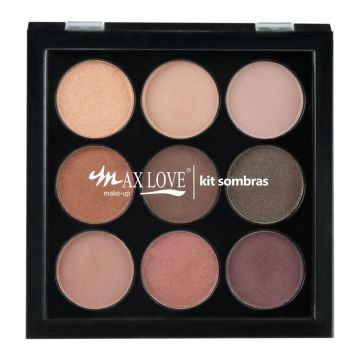 Paleta Sombra Max Love PS02 Marrom Max Love