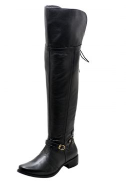 Bota Over Knee em Couro DR Shoes Preto DR Shoes