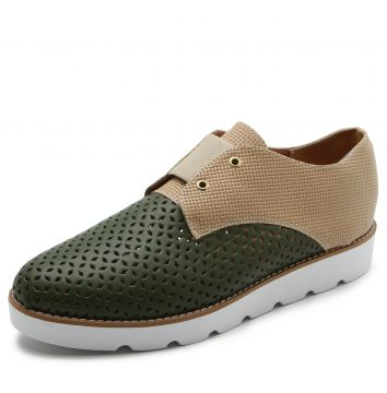 Oxford DAFITI SHOES Lasercut Verde DAFITI SHOES