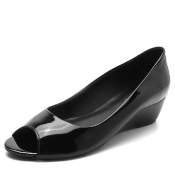 Peep Toe DAFITI SHOES Anabela Preto DAFITI SHOES
