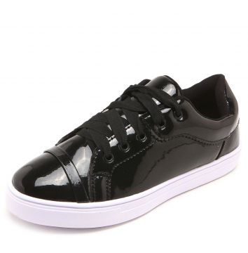 Tênis DAFITI SHOES Verniz Preto DAFITI SHOES