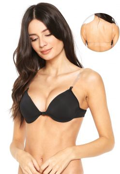Sutiã Dilady Push Up Nude Back Preto Dilady