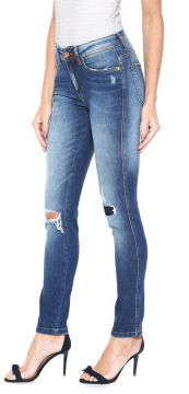 Calça Jeans Zoomp Skinny Miss America Connie Azul Zoomp