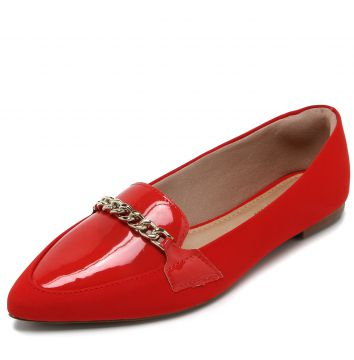 Mocassim DAFITI SHOES Corrente Vermelho DAFITI SHOES