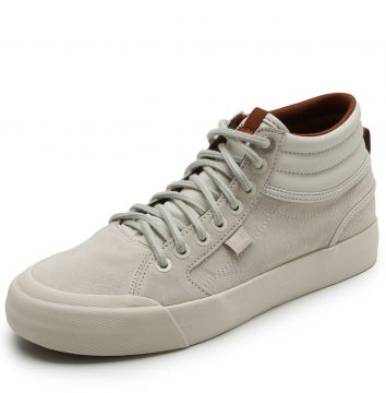 Tênis Couro DC Shoes Evan Hi Le Imp Off White DC Shoes