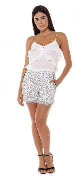 Short Renda Studio21 Branco Studio21