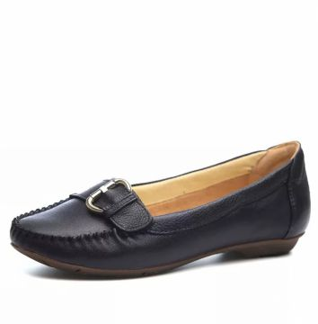 Mocassim Couro Doctor Shoes 1303 Fivela Preto Doctor Shoes
