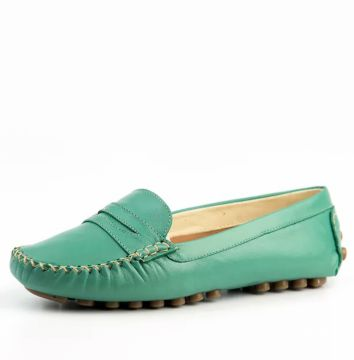 Mocassim Couro Doctor Shoes 514 Recorte Verde Agua Doctor S