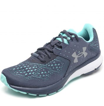 Tênis Under Armour Charged Rebel W Cinza/Verde Under Armour