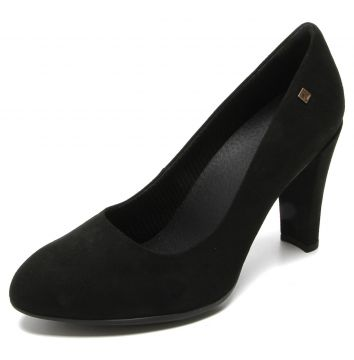 Scarpin Piccadilly Suede Preto Piccadilly