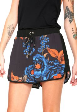 Short My Favorite Thing(s) Floral Preto/ Azul My Favorite T