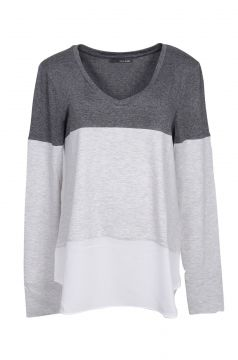 T-Shirt It s & Co Baggio Mescla Cinza It s & Co