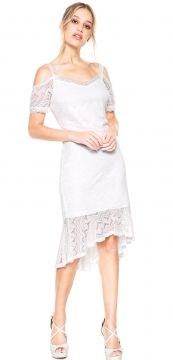 Vestido D.DRESS Curto Renda Branco D.DRESS