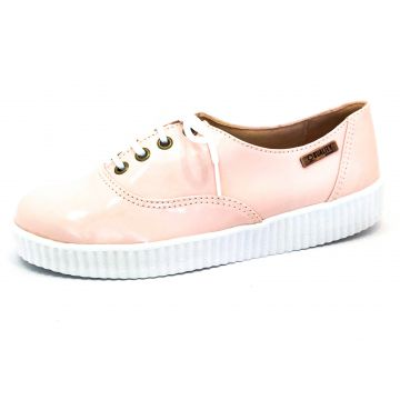 Tênis Creeper Quality Shoes Rosa Verniz Sola Branca Quality