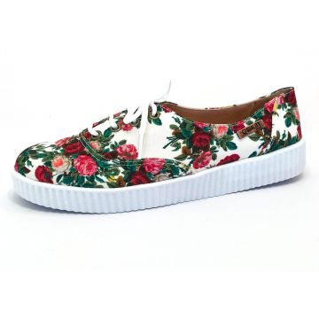 Tênis Creeper Quality Shoes Floral Sola Branca Quality Shoe
