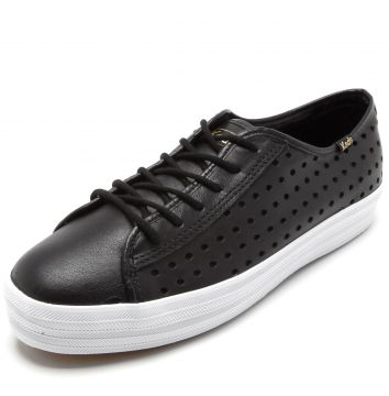 Tênis Keds Triple Kick Perf Leather Preto Keds