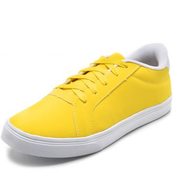 Tênis DAFITI SHOES Pespontos Amarelo DAFITI SHOES