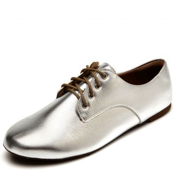 Oxford DAFITI SHOES Recortes Prata DAFITI SHOES