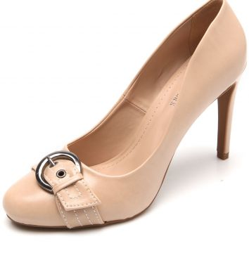 Scarpin DAFITI SHOES Fivela Nude DAFITI SHOES