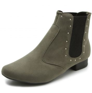 Bota Chelsea DAFITI SHOES Tachas Verde DAFITI SHOES