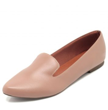 Mocassim DAFITI SHOES Bico Fino Rosa DAFITI SHOES
