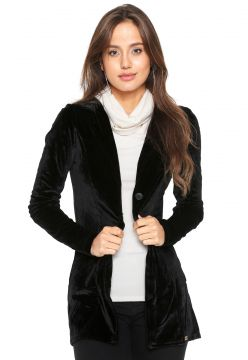 Blazer Planet Girls Veludo Básico Preto Planet Girls