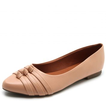 Sapatilha DAFITI SHOES Bico Redondo Nude DAFITI SHOES