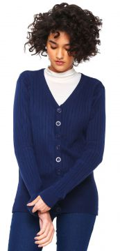Cardigan For Why Tricot Textura Azul-Marinho For Why