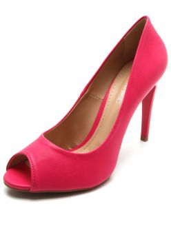 Peep Toe DAFITI SHOES Salto Fino Rosa DAFITI SHOES