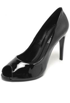 Peep Toe DAFITI SHOES Verniz Preto DAFITI SHOES