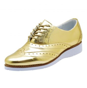 Tenis Atron Shoes Oxford Dourado Atron Shoes
