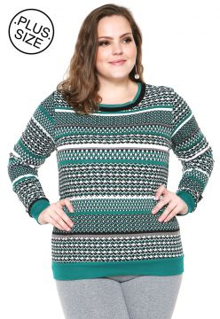 Moletom Flanelado Fechado WEE! Estampado Plus Size Verde WE