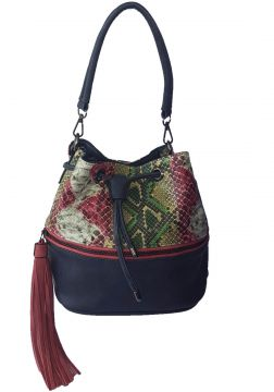 87bbb0d323231 Bolsa Bag dreams Saco Cobra Rosa com Azul Bag dreams