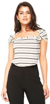 Blusa Lucy in The Sky Listrada Off-White Lucy in The Sky