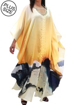Vestido 101 Resort Wear Longo Amarelo 101 Resort Wear