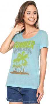 Blusa Lucy in The Sky Anthrop Azul Lucy in The Sky