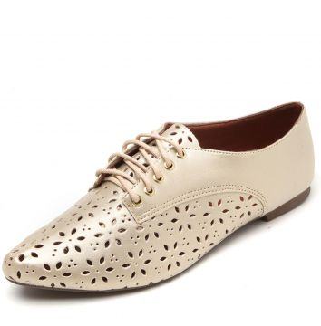 5ab30c03fd Oxford DAFITI SHOES Lasercut Dourado DAFITI SHOES