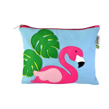 Clutch do Flamingo Azul Mumagi Mumagi