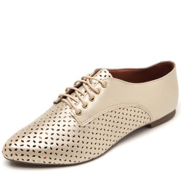 Oxford DAFITI SHOES Lasercut Dourado DAFITI SHOES