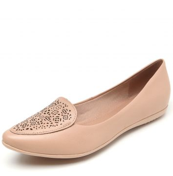Slipper Couro Bottero Lasercut Rosa Bottero